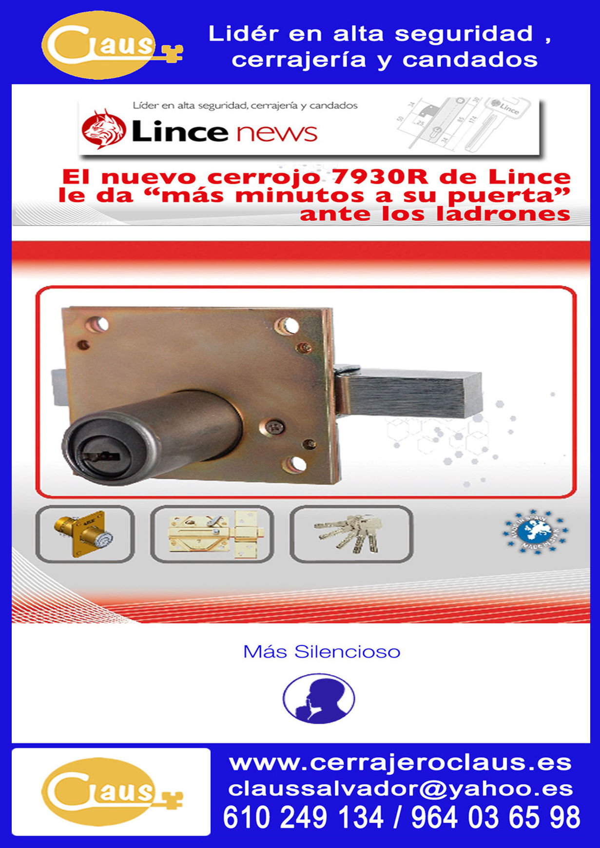 CERROJO LINCE 7930R