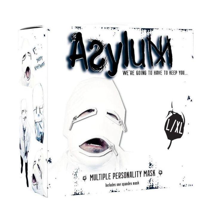 ASYLUM MASCARA BLANCA 3 CREMALLERAS : CATALOGO DE PRODUCTOS de SEX MIL 1