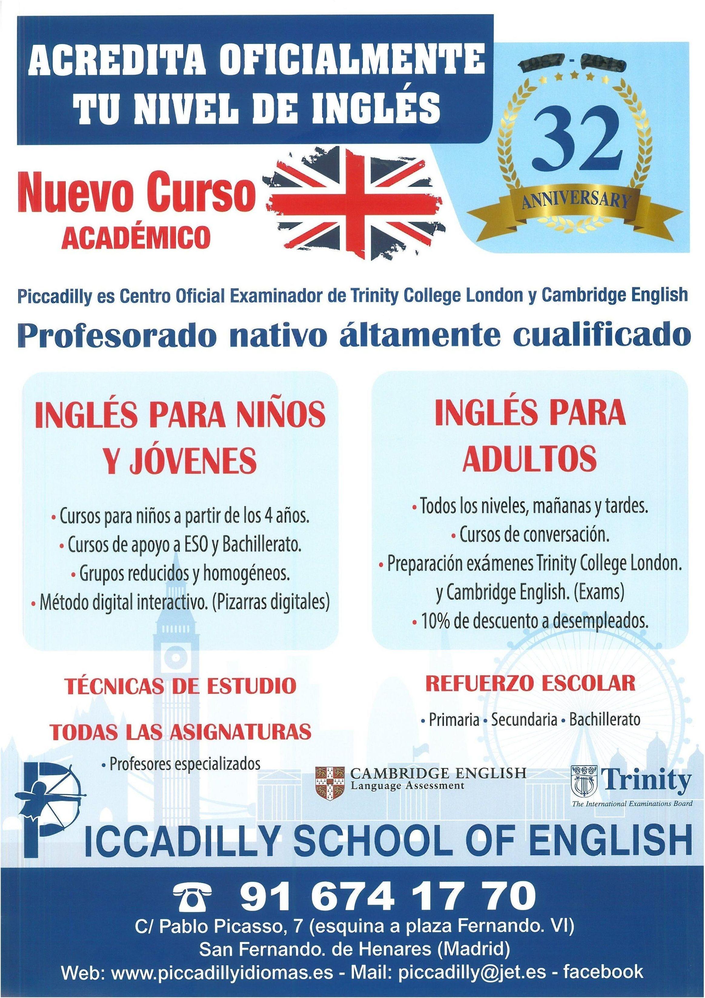Foto 1 de Academias de idiomas en San Fernando de Henares | Piccadilly Idiomas