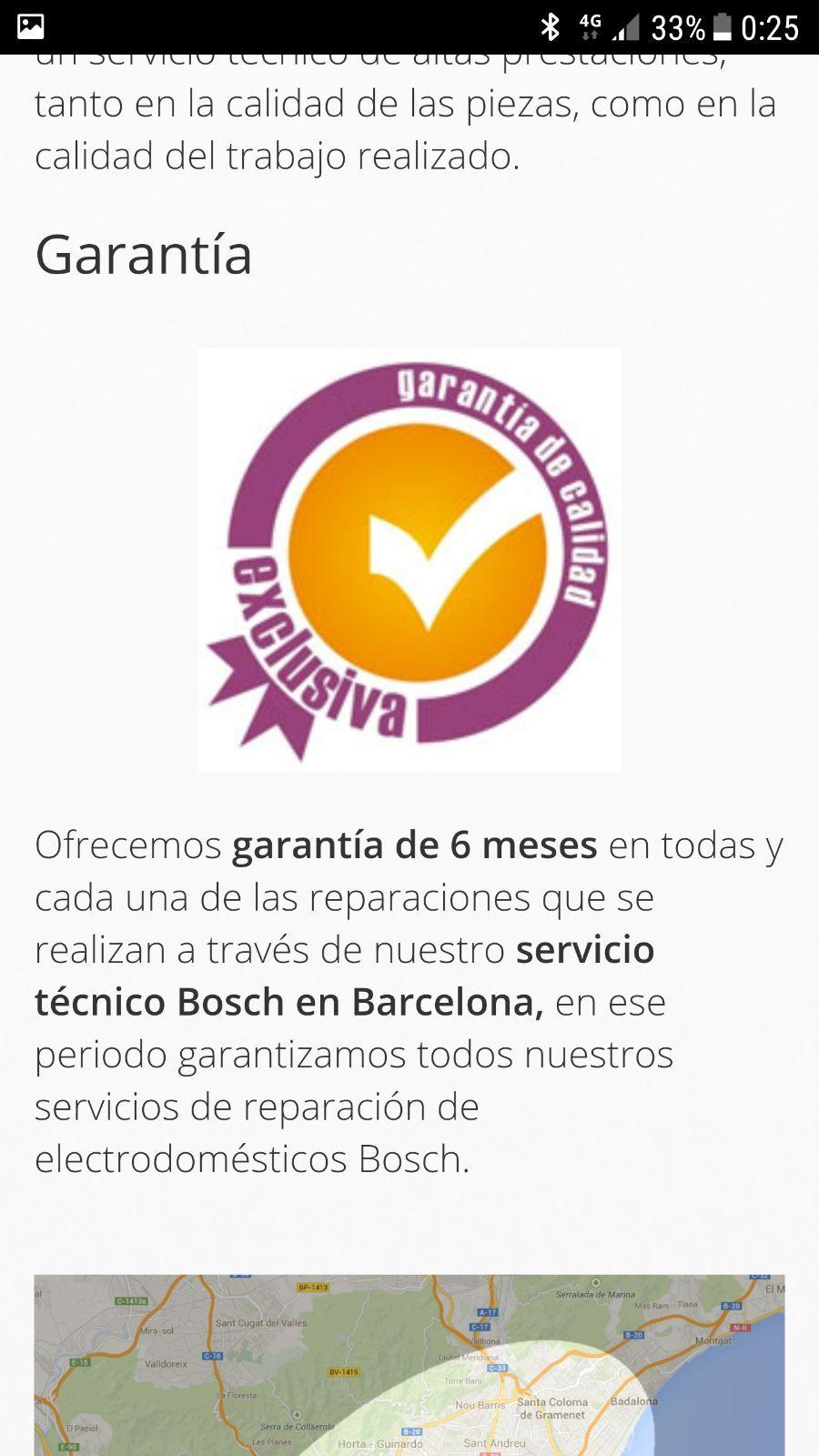 Máxima garantía en la reparación de electrodomésticos en Barcelona