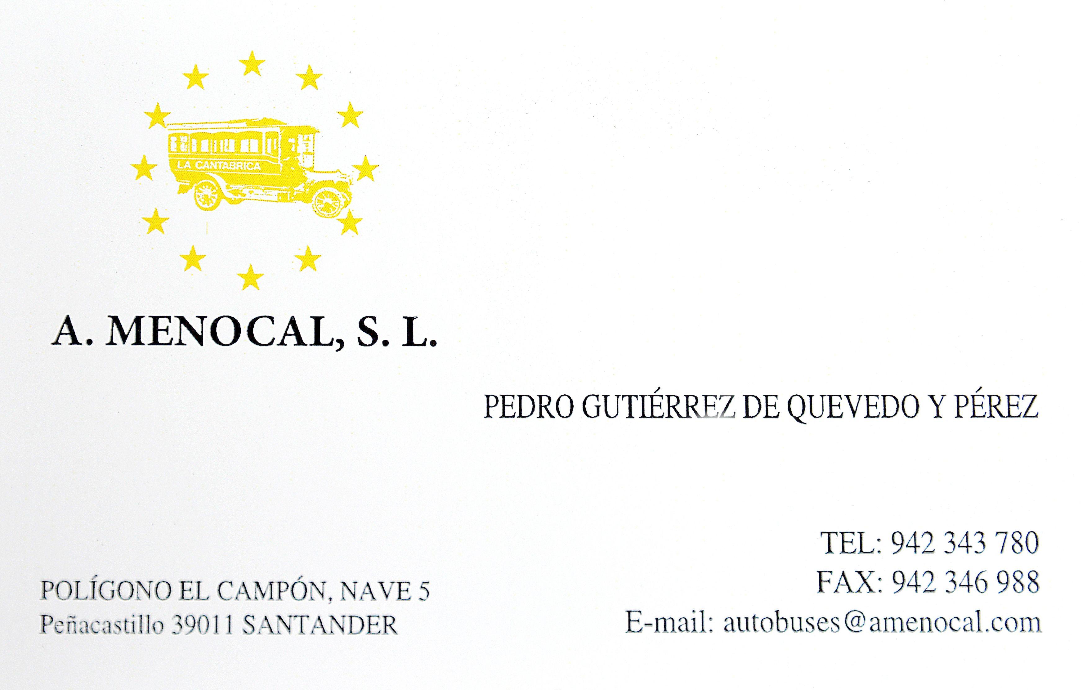 Foto 1 de Autocares en Peñacastillo - Santander   A. Menocal, S.L.