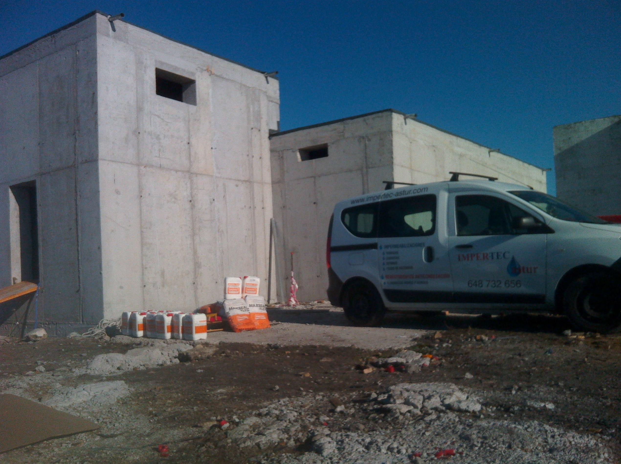 Impermeabilización de depósitos de agua potable en Asturias