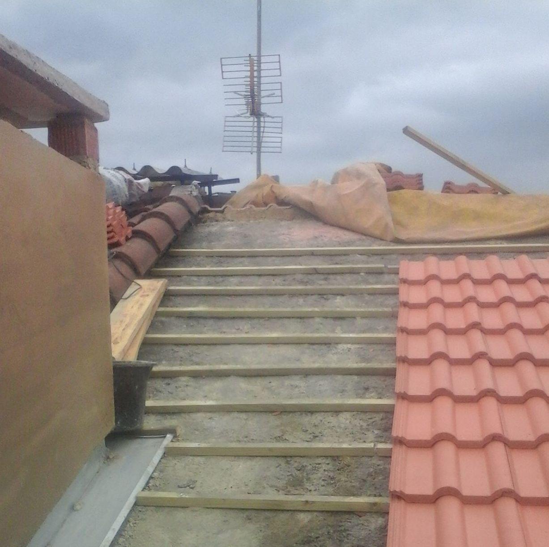 Goteras en tejados de Asturias