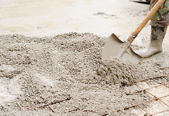 Aplicación de pavimento de hormigón impreso