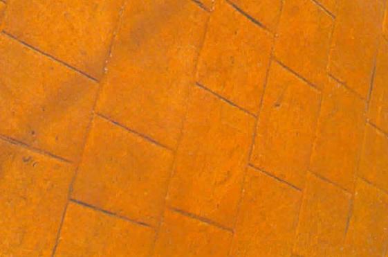 Pavimento combinando diseño y color