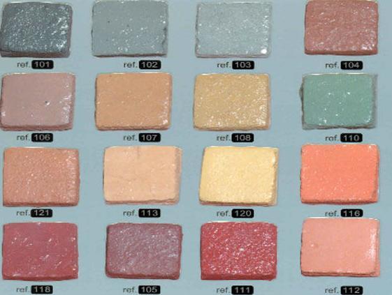 Variedad de modelos y colores en pavimentos