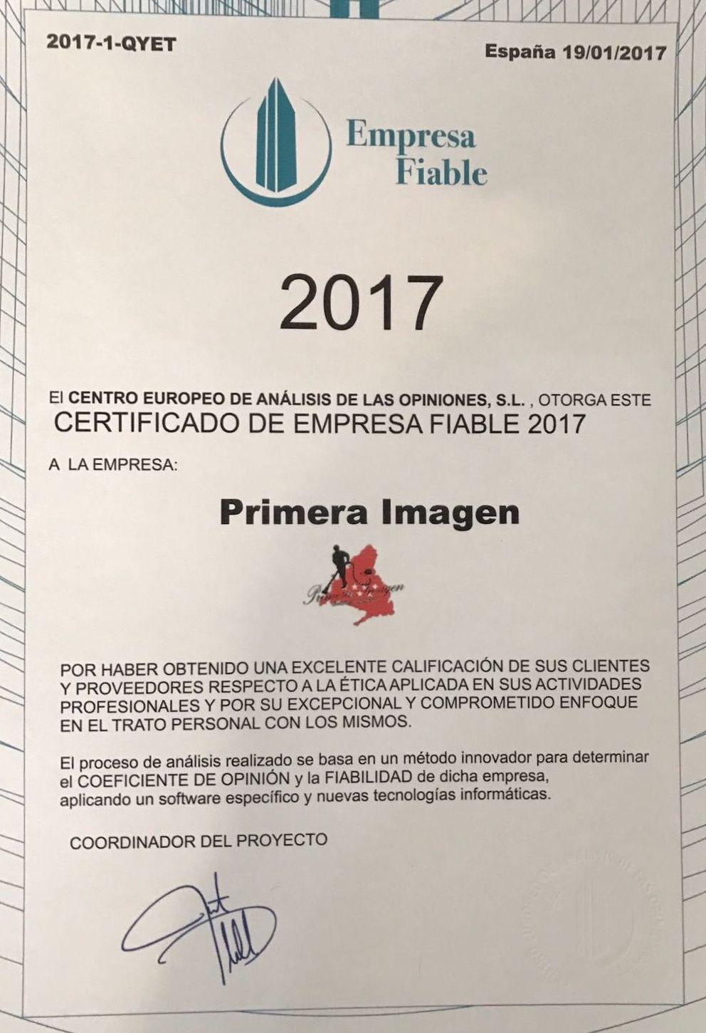 CERTIFICADO CALIDAD 2017