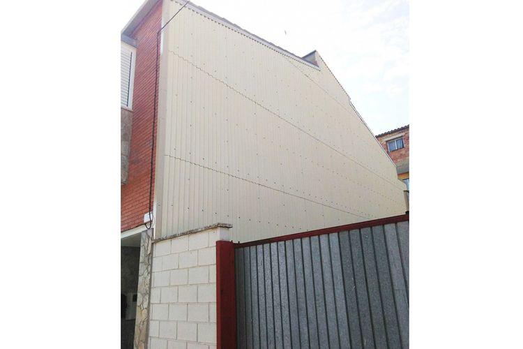 Tabiques pluviales en las fachadas