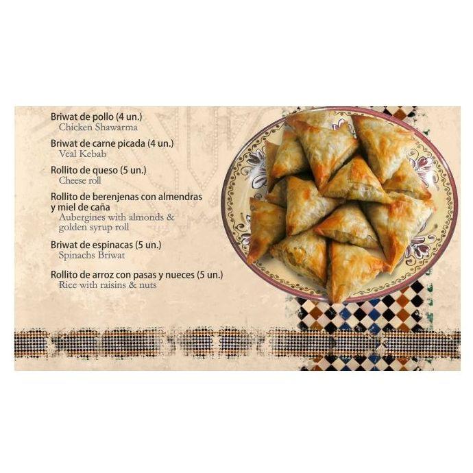 Salados marroquíes: Carta de Tetería Alfaguara