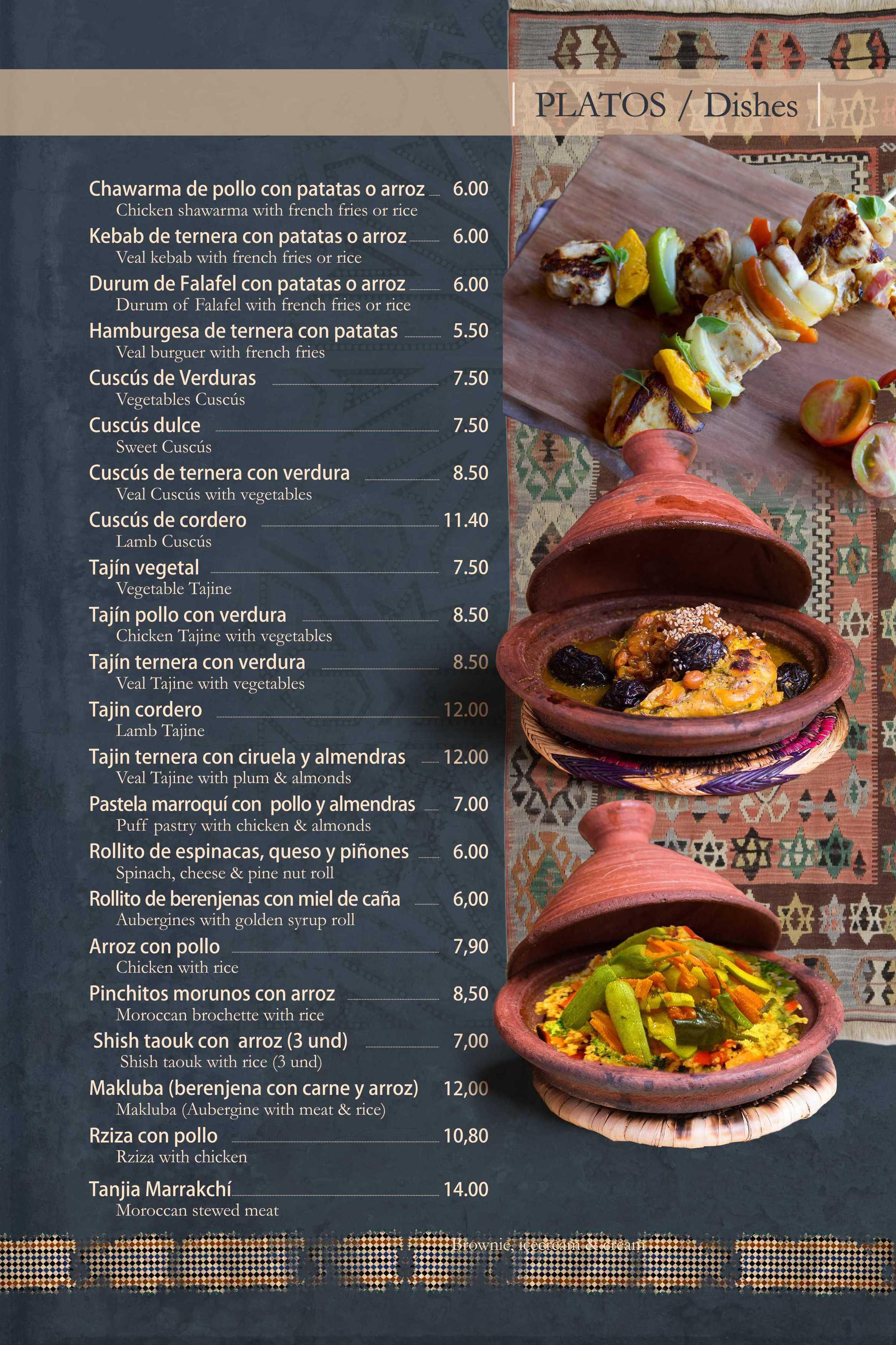 Auténtico restaurante de cocina tradicional árabe en Granada