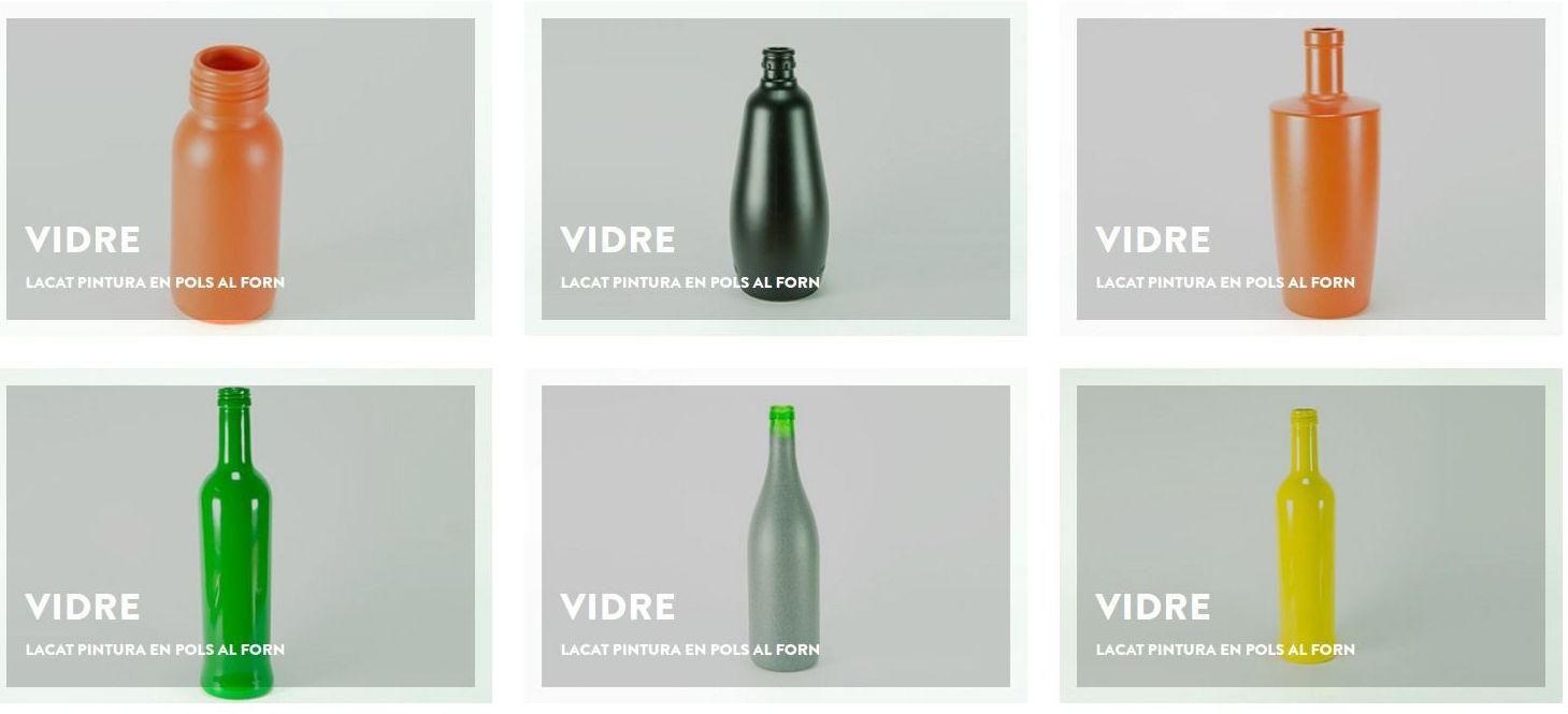 Decoración botellas de vidrio para la industria