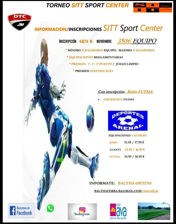 TORNEO DE FUTBOL SITT SPORT CENTER: Servicios de SITT Sport Center