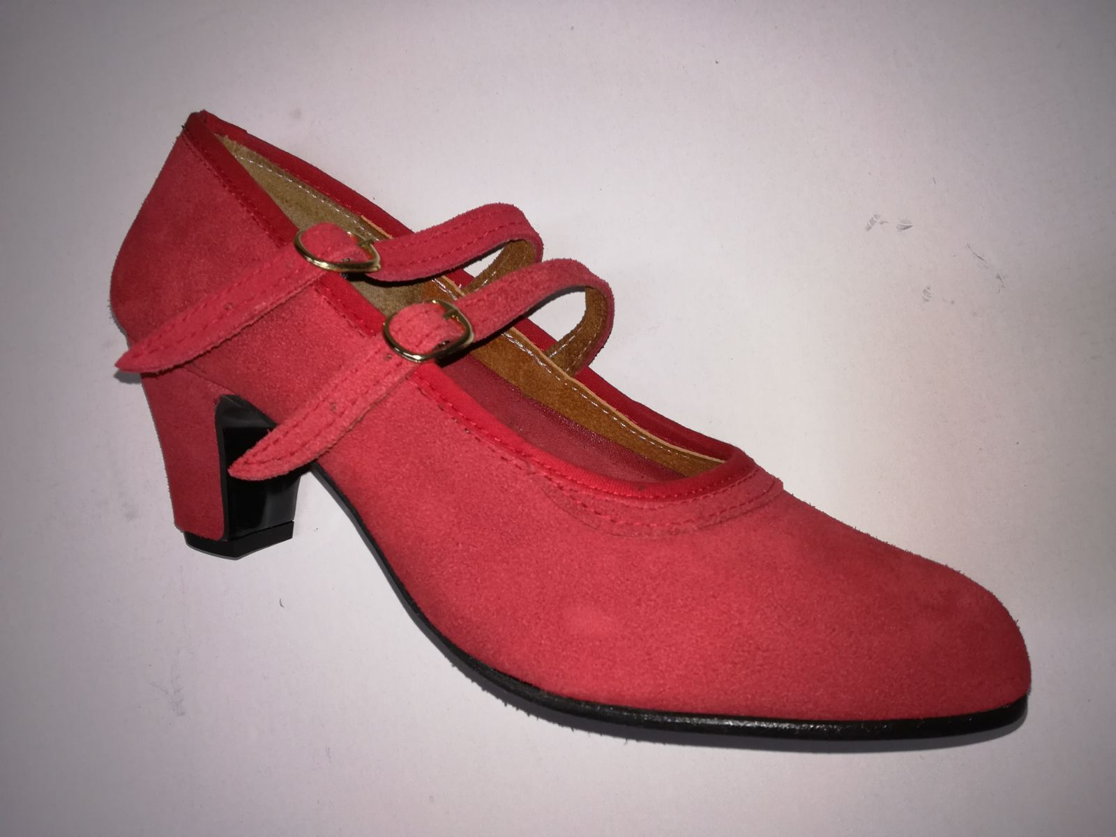 Zapato piel ante rojo Modelo 24: Productos de Calzados Malaca