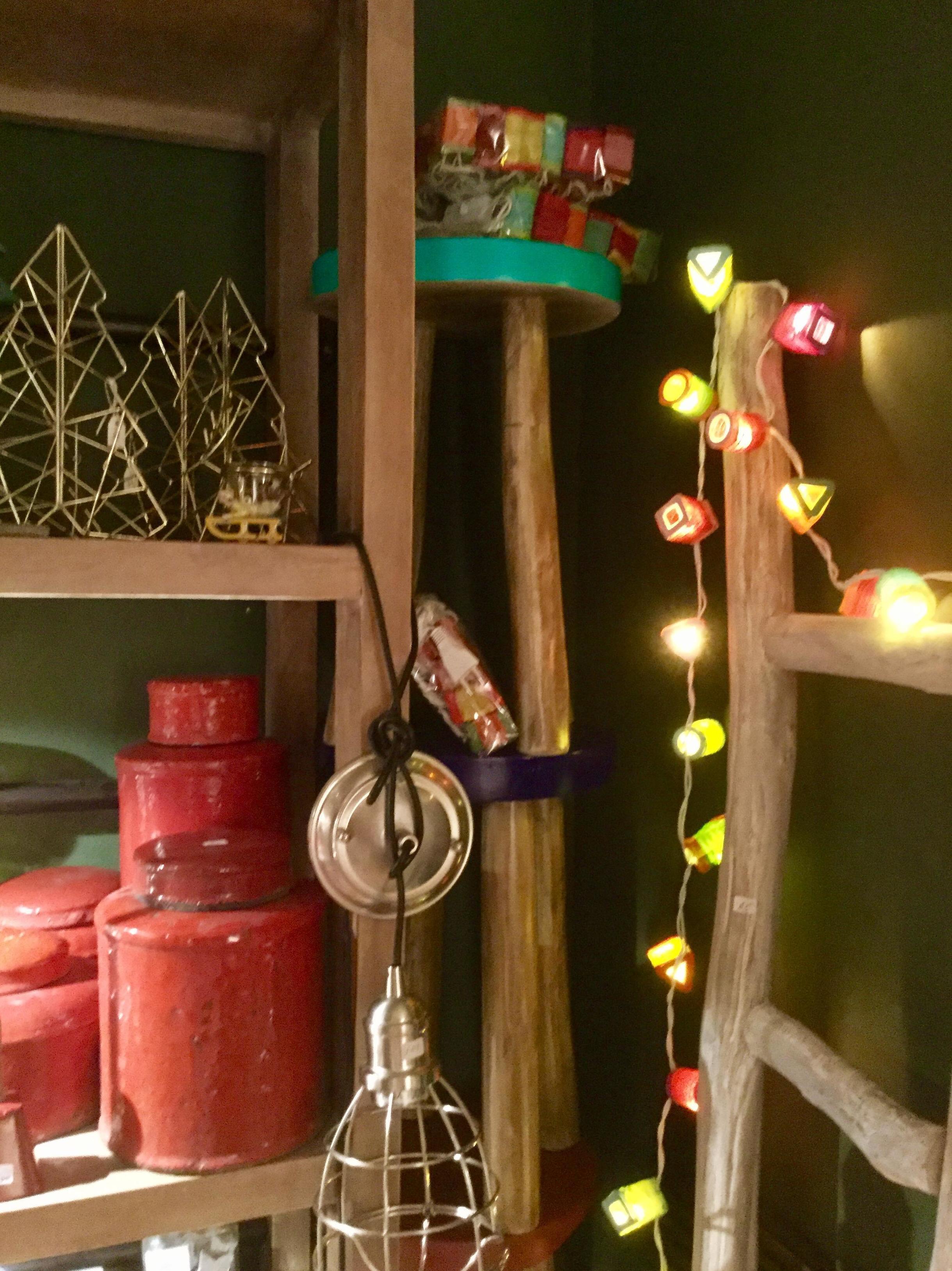 Decoración y luces de Navidad