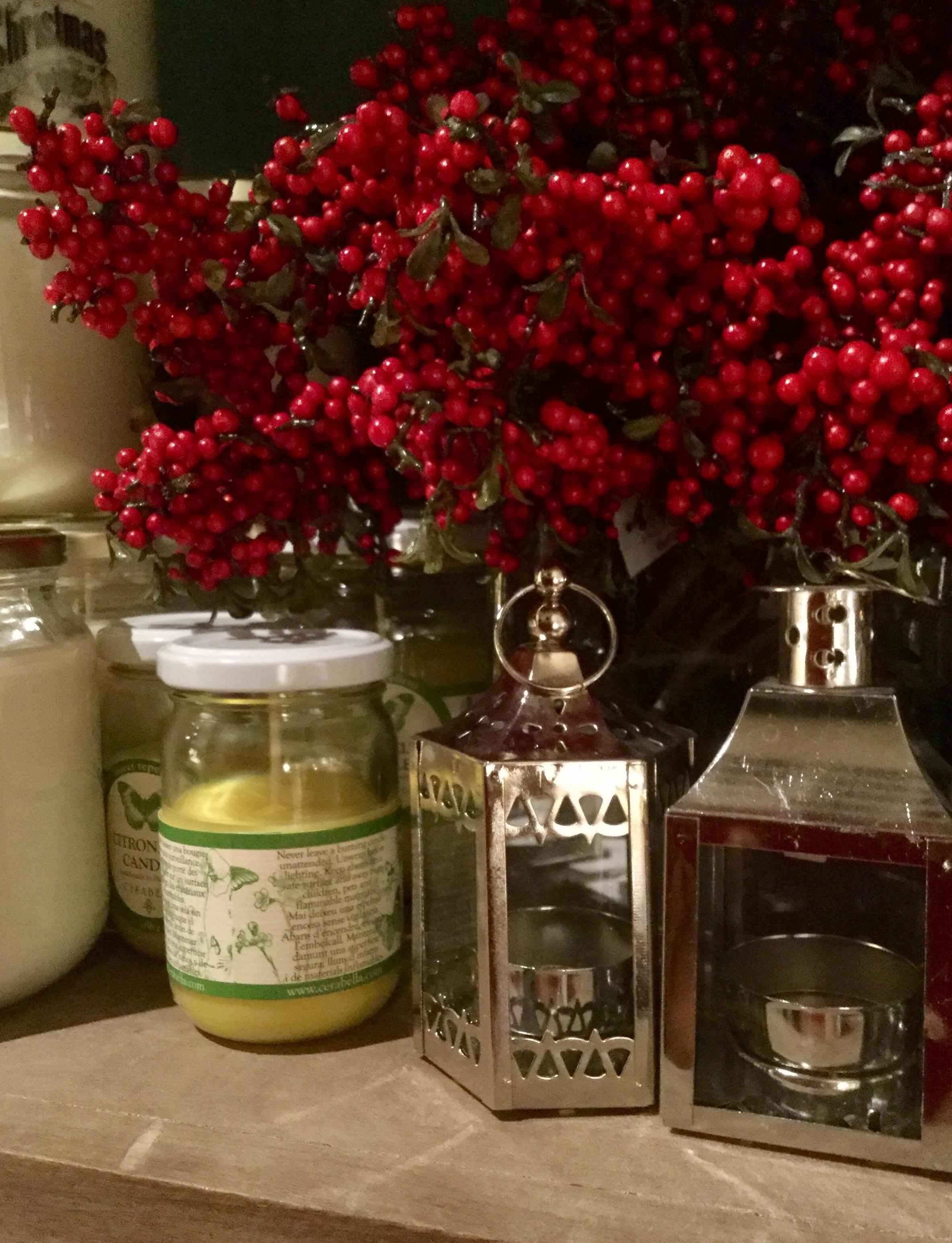 Flores de decoración navideña
