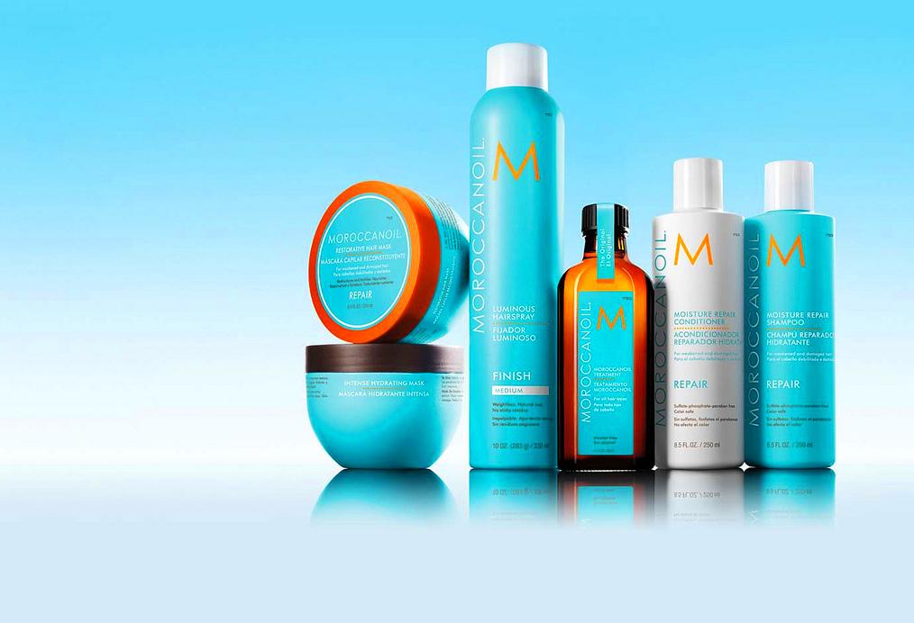Productos de peluquería en Gijón de marcas como Moroccanoil