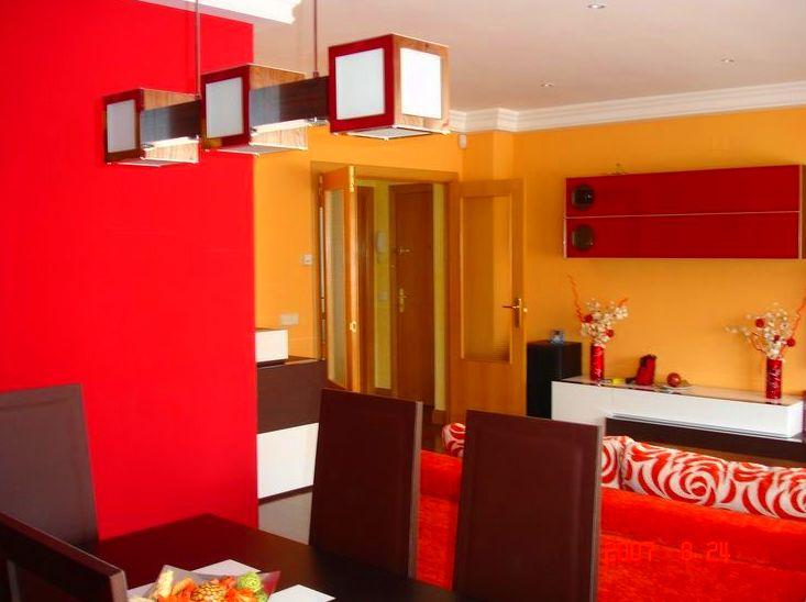 Pintura decorativa en salón-comedor de vivienda