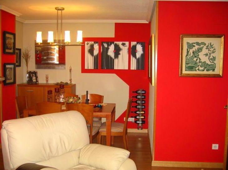 Pintura decorativa en salón-comedor de vivienda en Madrid