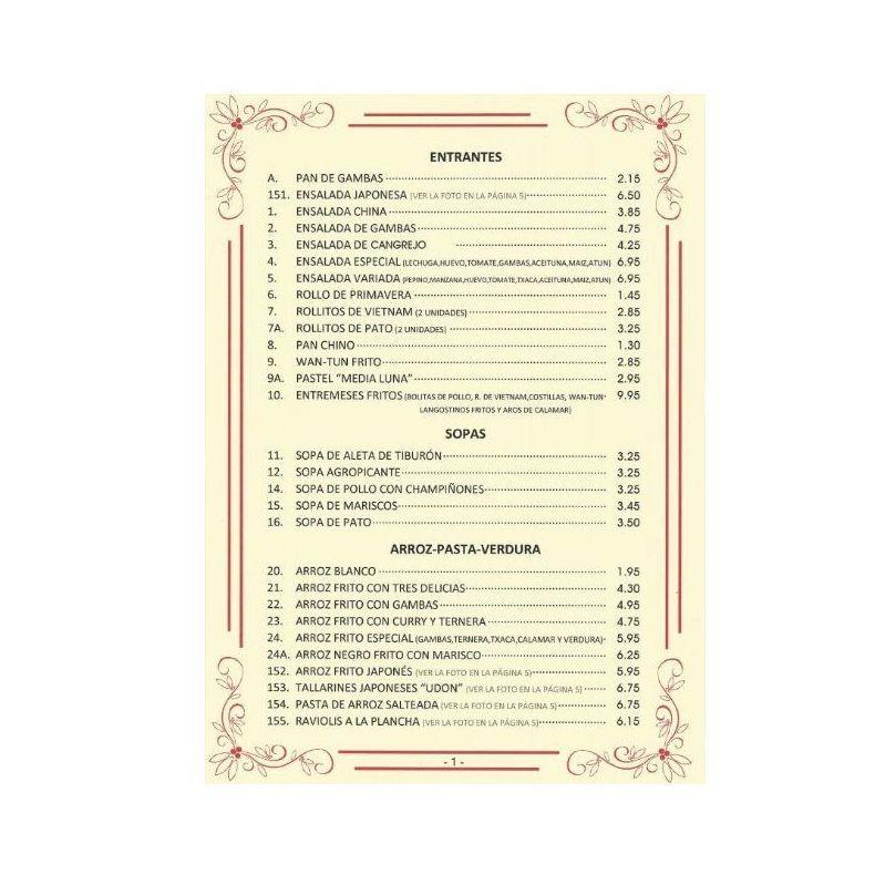 Entrantes, sopas, arroz, pasta, verdura...: NUESTRA CARTA  of La Grulla de Oro