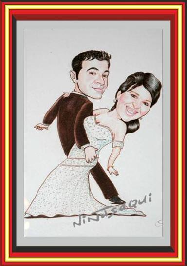 Caricatura pareja, Caricatura novios, Caricatura boda