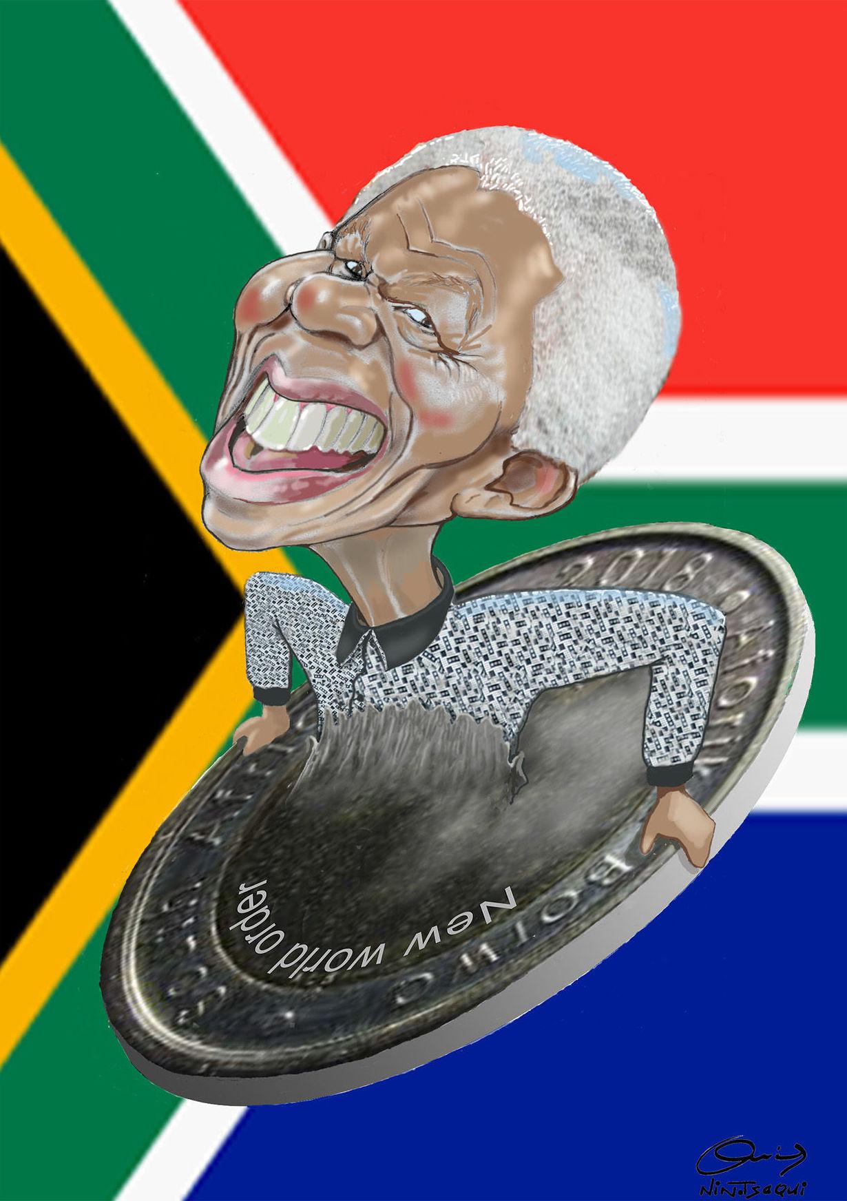 Mandela intentando salir del Nuevo Orden Mundial