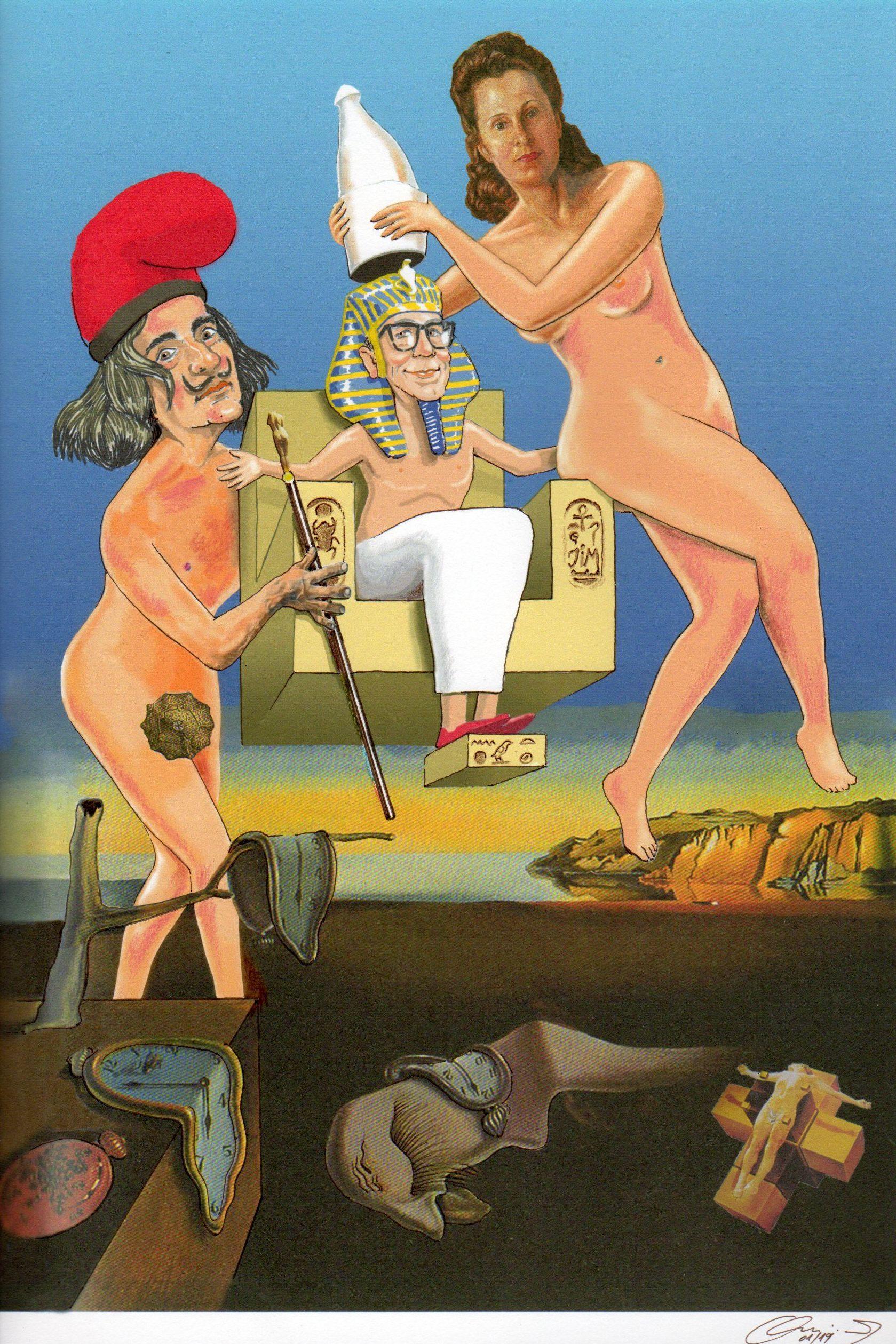 Montaje para un amigo del matrimonio Dalí que se hace llamar FARAÒ JIM