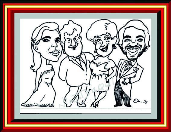 Caricaturas con los protagonistas 1