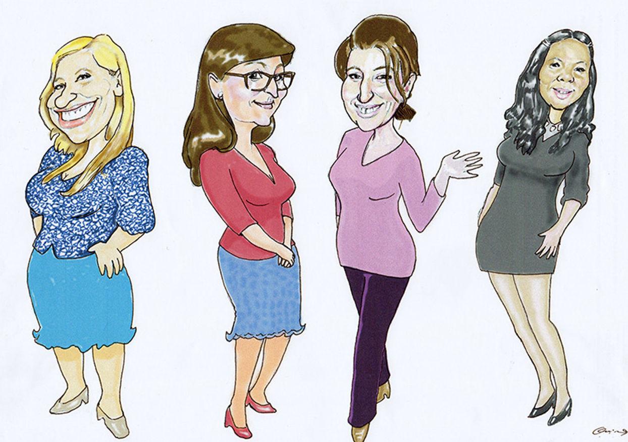 Caricatura individual, Caricatura grupo