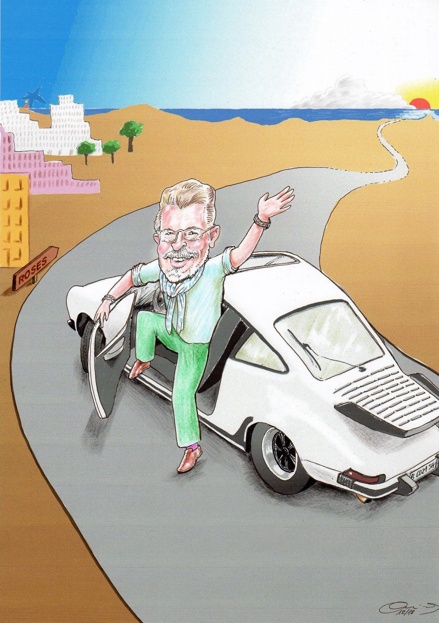 Caricatura para jubilación, Caricatura individual