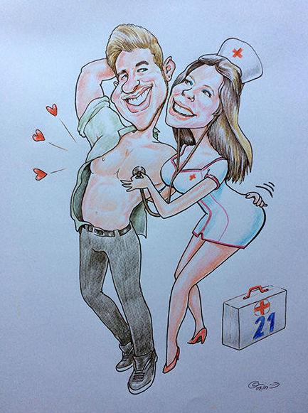 Caricatura pareja, Caricatura para dia de los enamorados