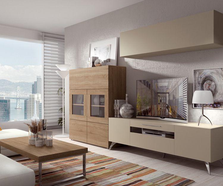 Muebles con diferentes estilos para salón