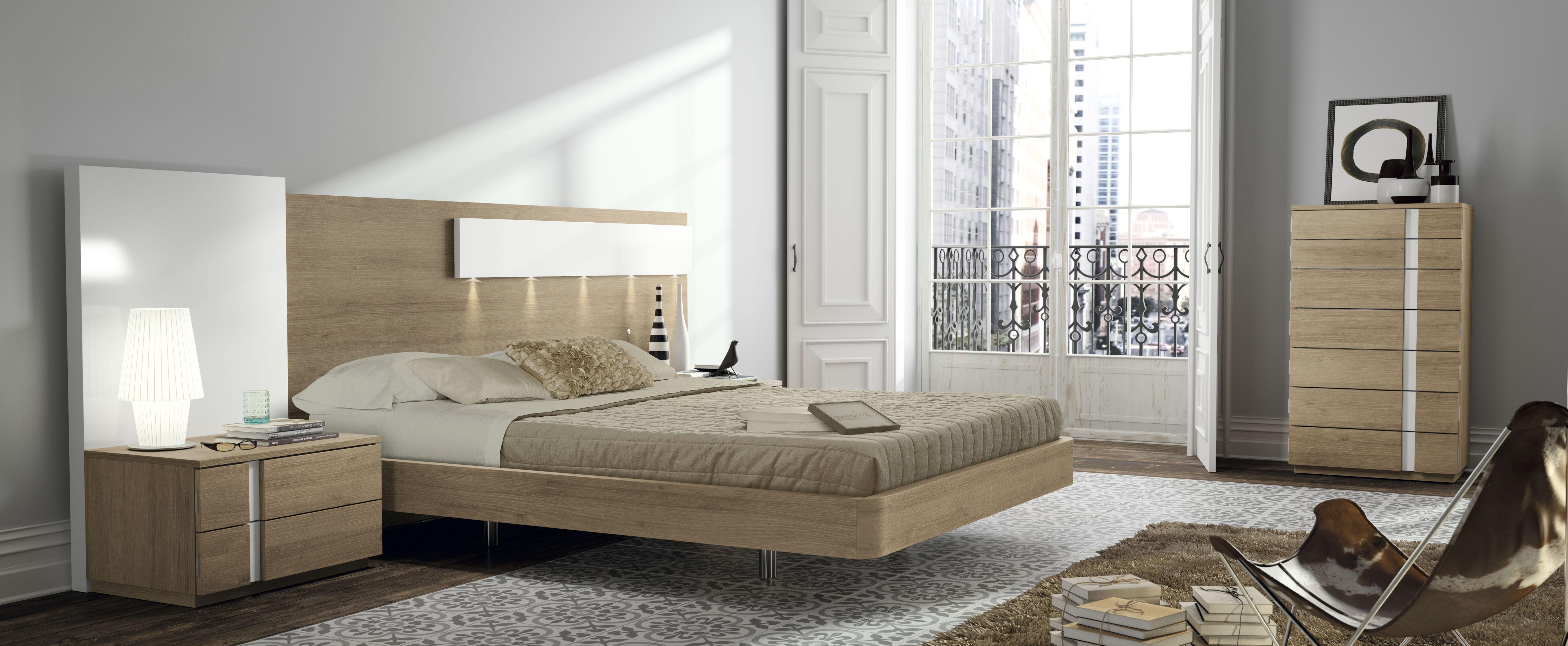 Dormitorio Nogal/ Blanco lacado 137