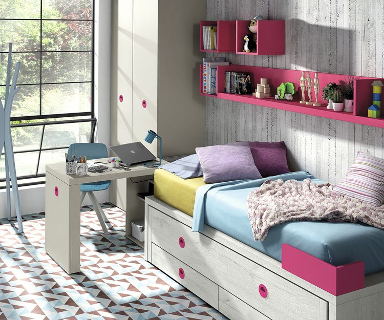 Dormitorio colorido para jovenes