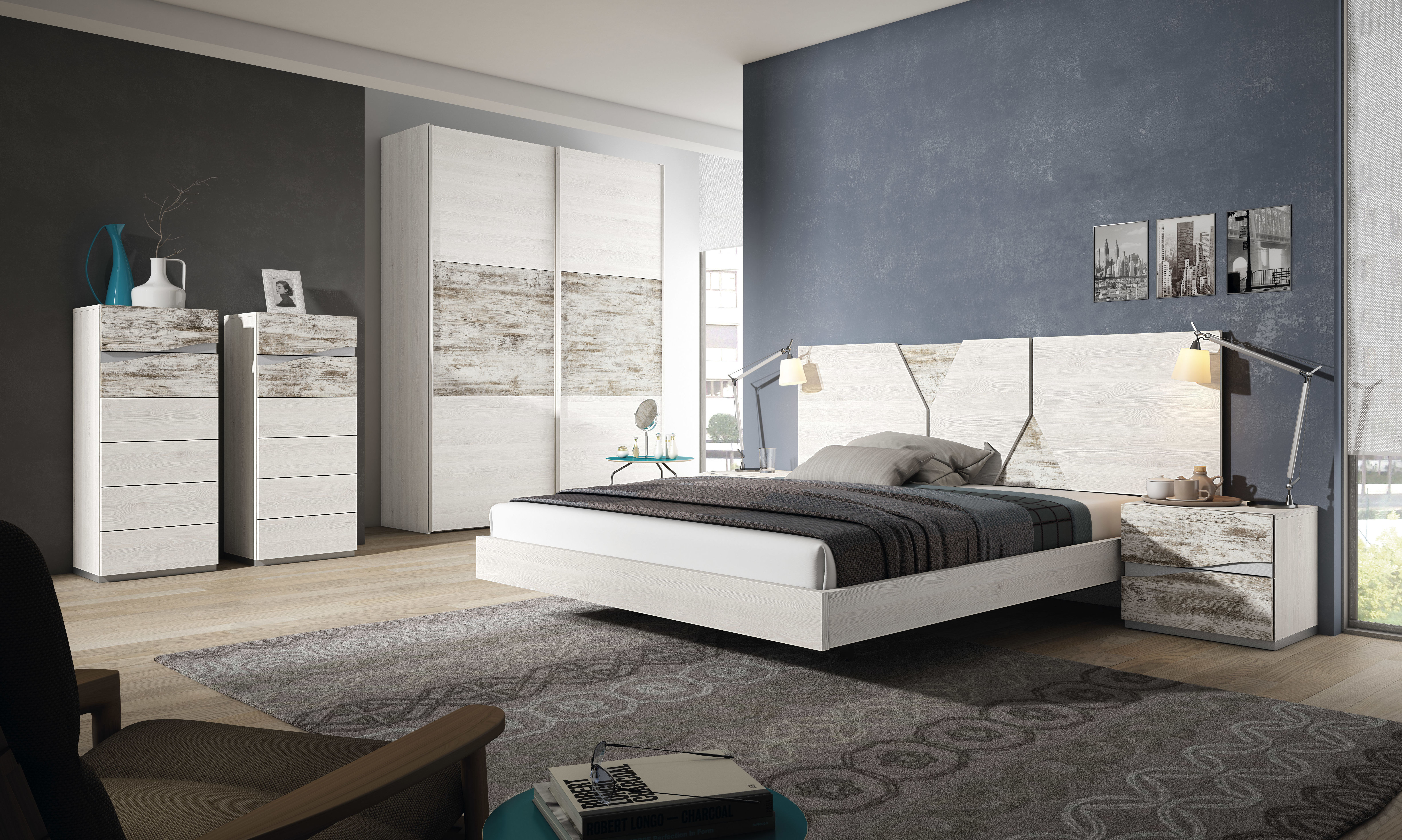 Dormitorio Creta  varias combinaciones de colores