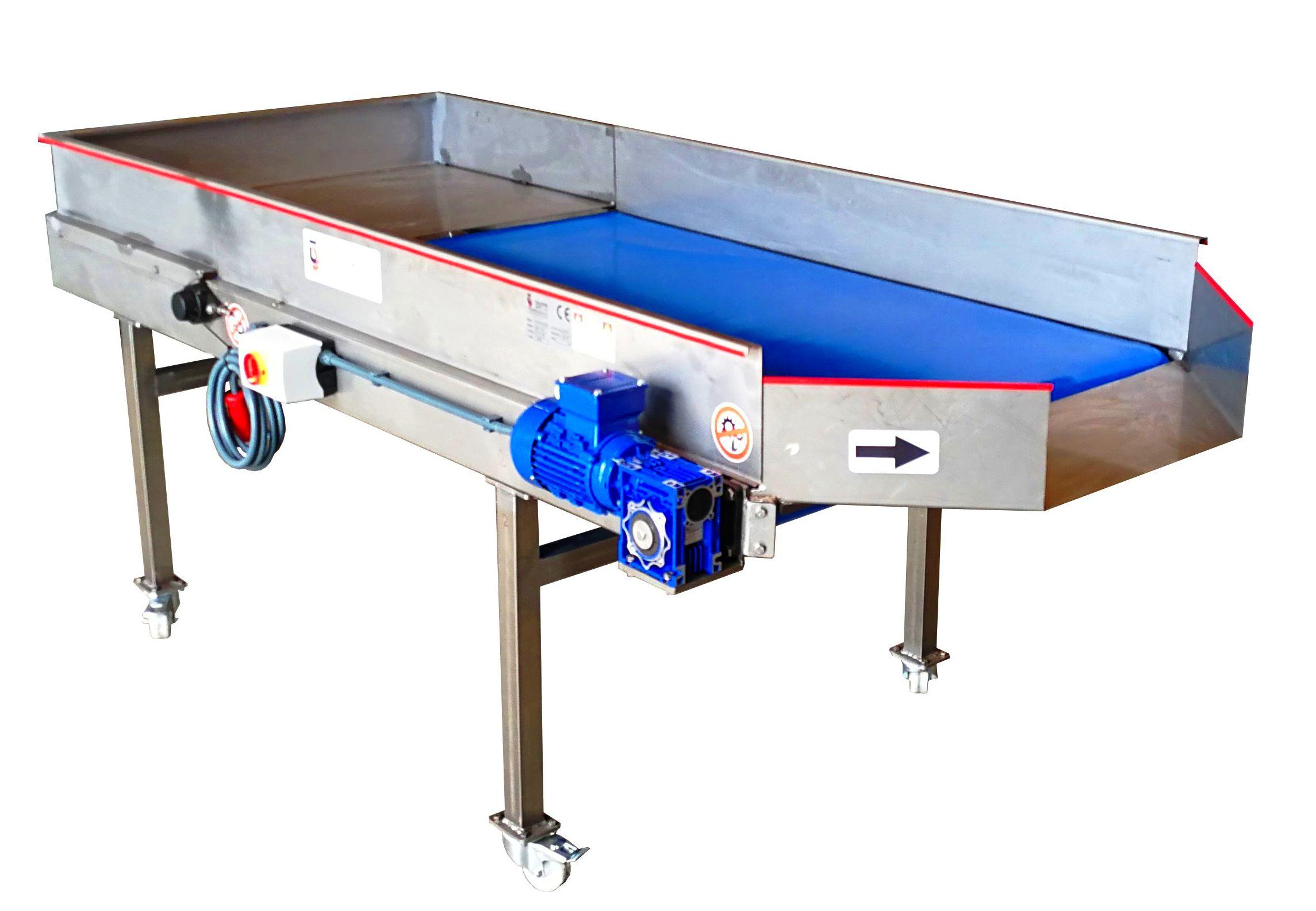 Cintas transportadoras Inoxidable  bandas PVC Alimentaria Blue