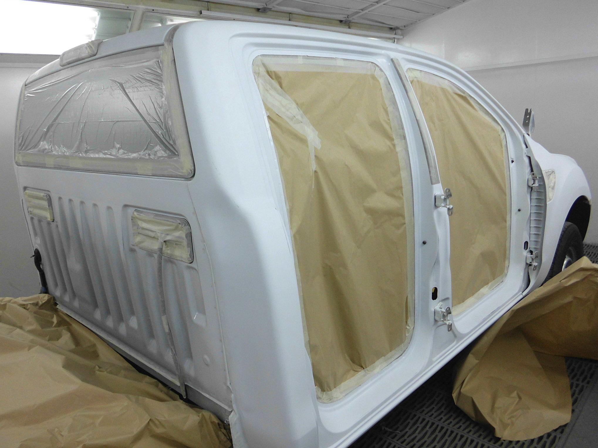 Proceso de pintura del automóvil