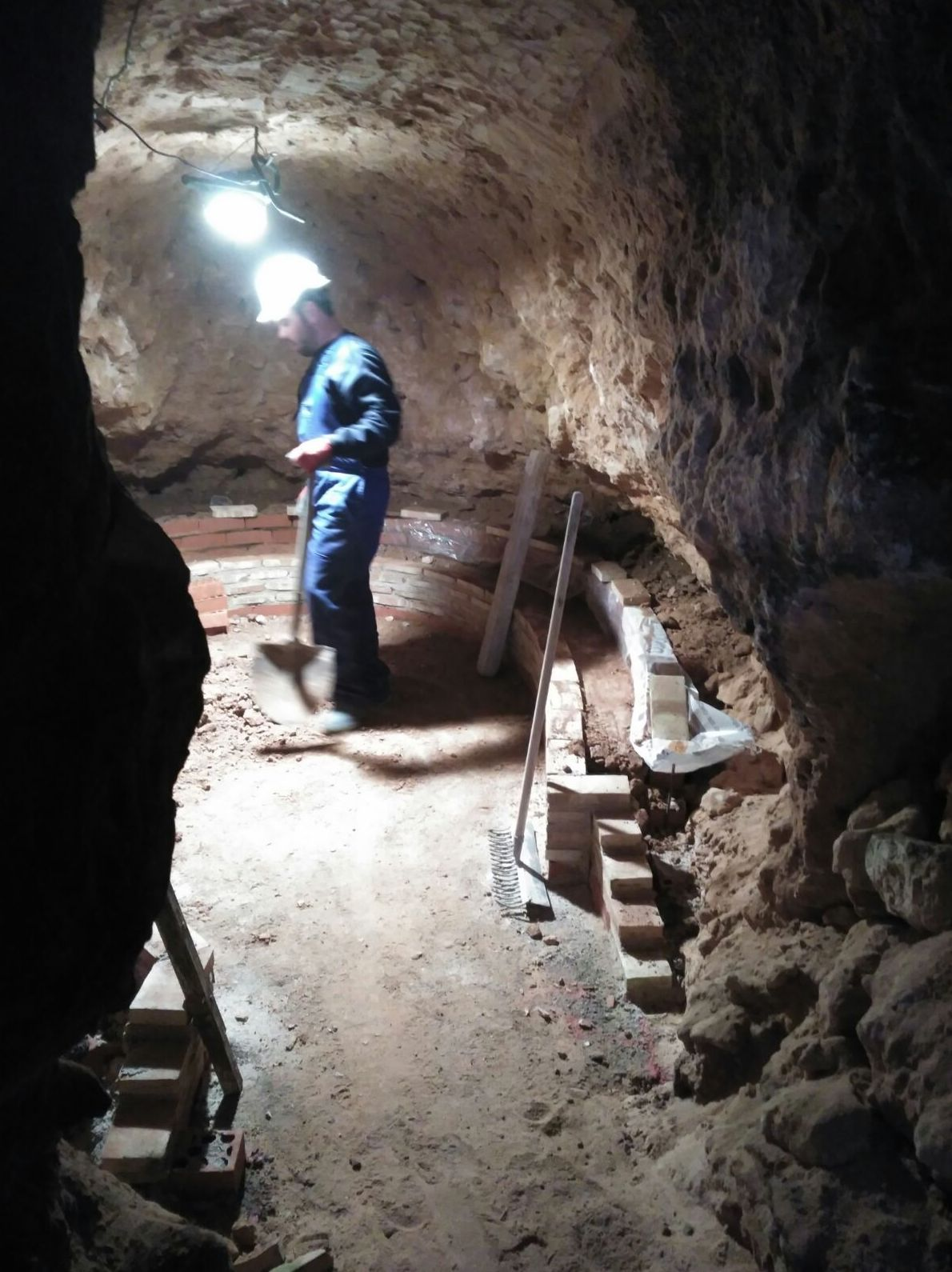 Trabajos de albañilería subterráneos
