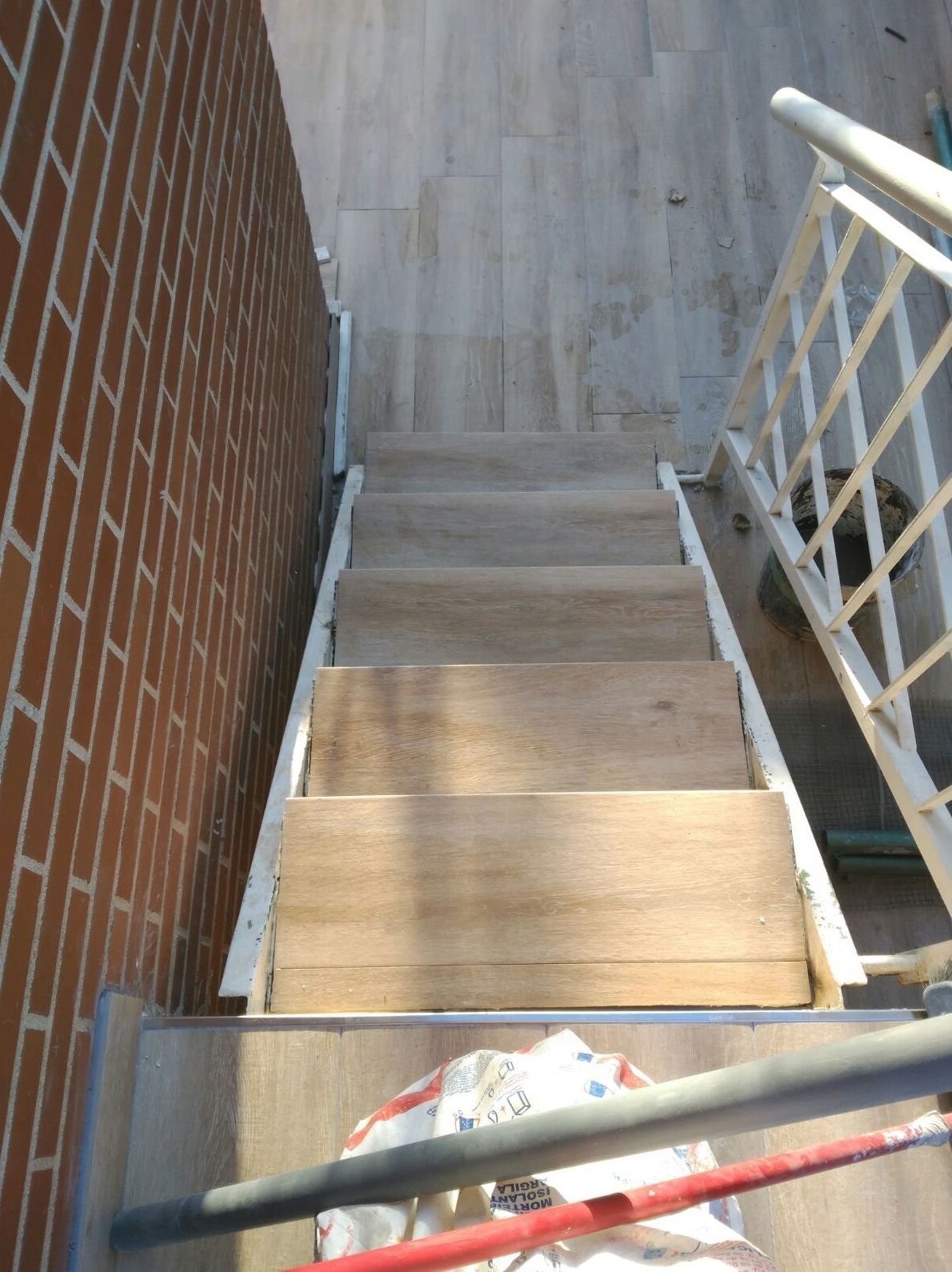 Reforma de peldaños de escaleras
