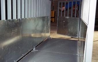 Fabricación de básculas para ganado en acero