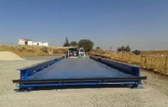 Montaje de básculas de camiones