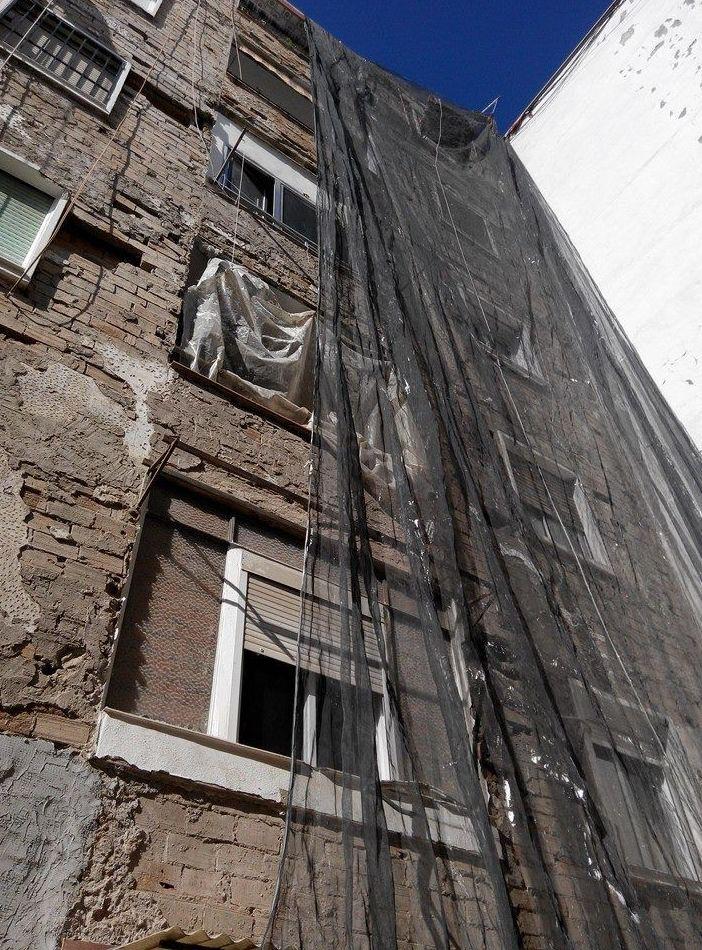 Rehabilitación de edificios sin andamios