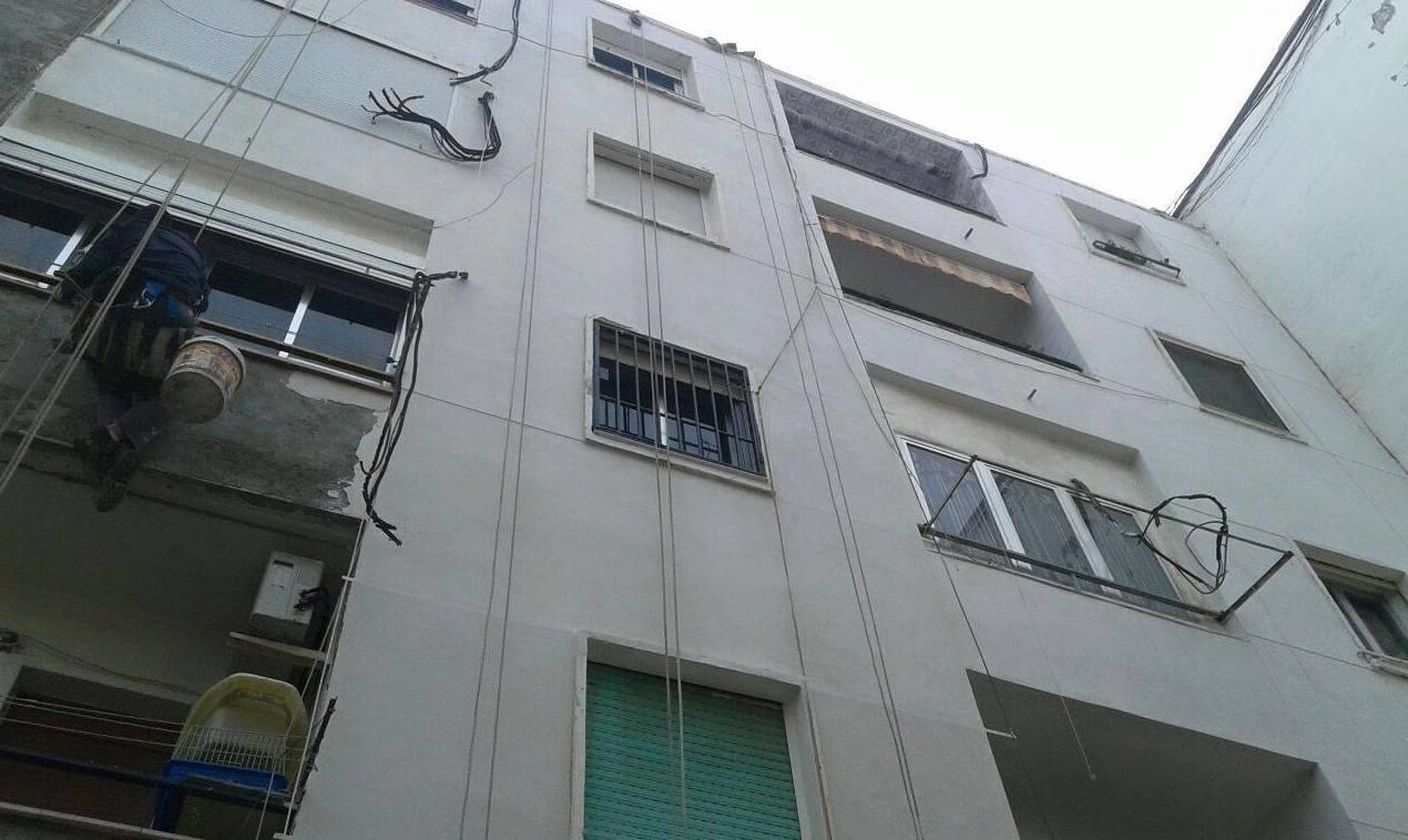 Revestimiento de fachadas sin andamios