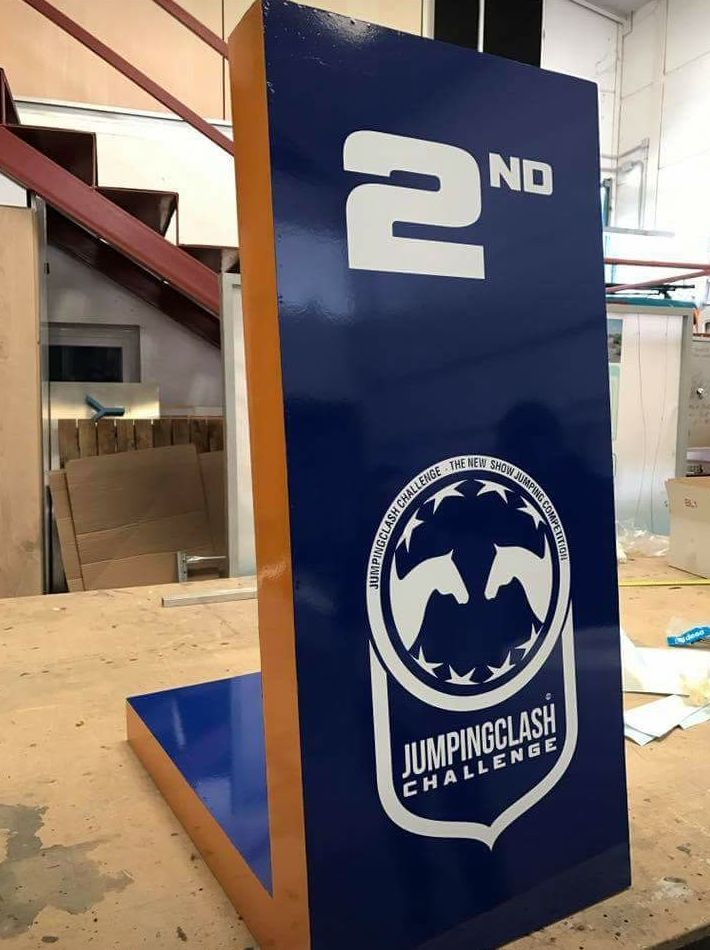 Fabricación urgente para el evento Jumping clash challenge que se celebró en Bélgica.