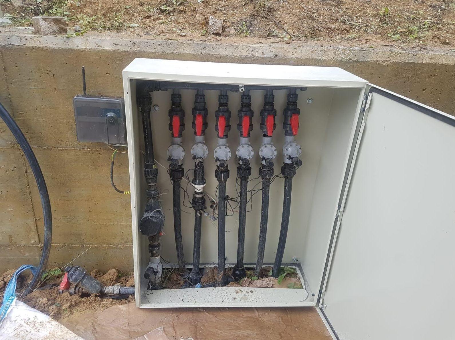 Instalación de riego automático inteligente