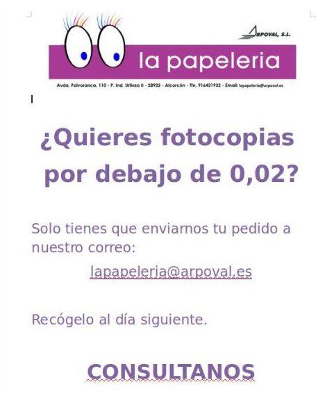 Fotocopias por debajo de 0.02 €