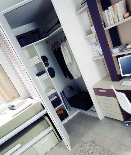 Detalle de un dormitorio juvenil