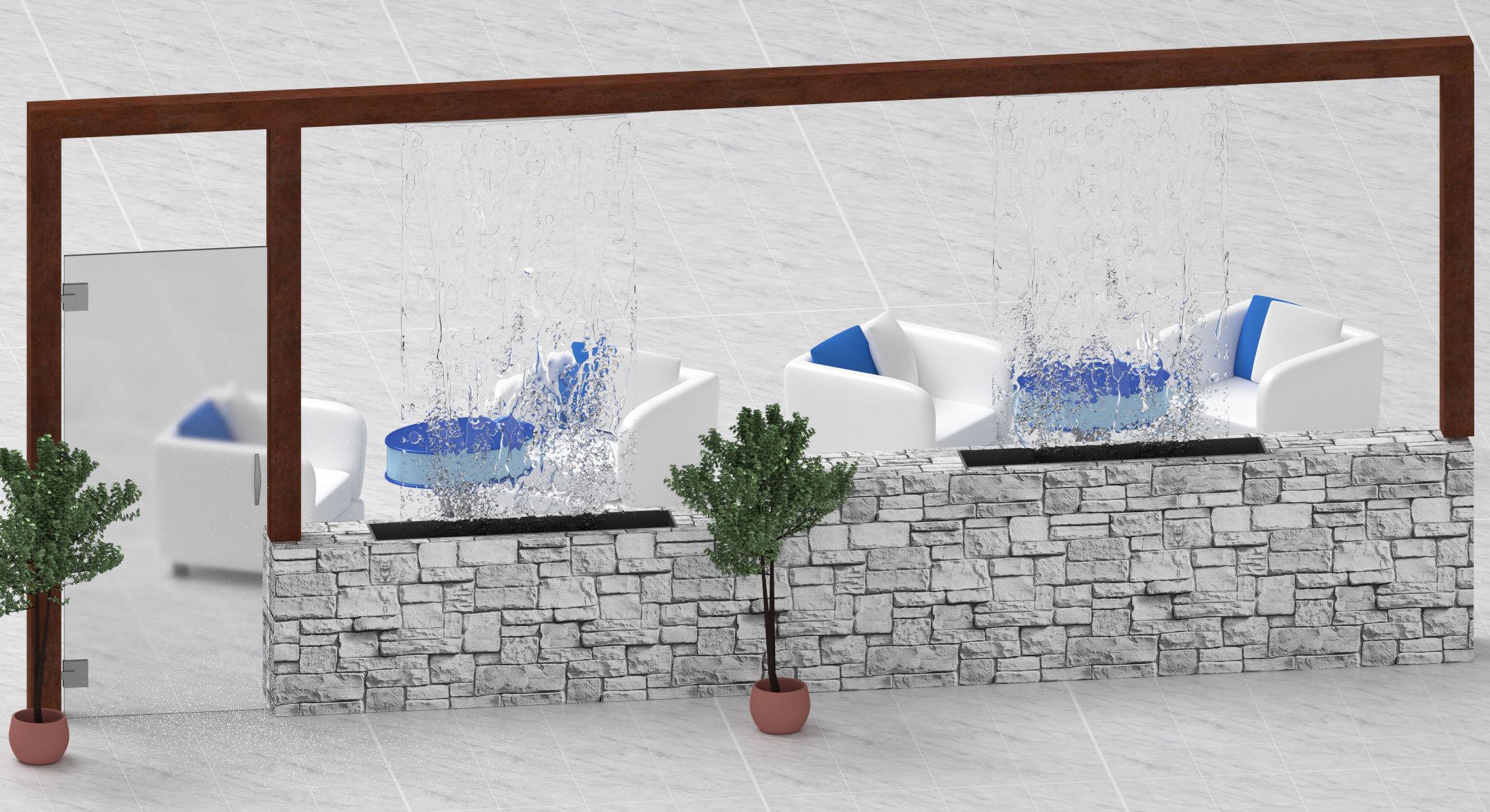 Decoración - Cortina de agua - Fuente moderna