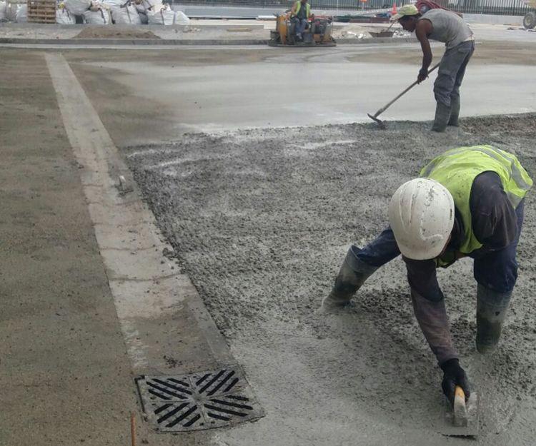 Trabajos de pavimentación de hormigón en Barcelona