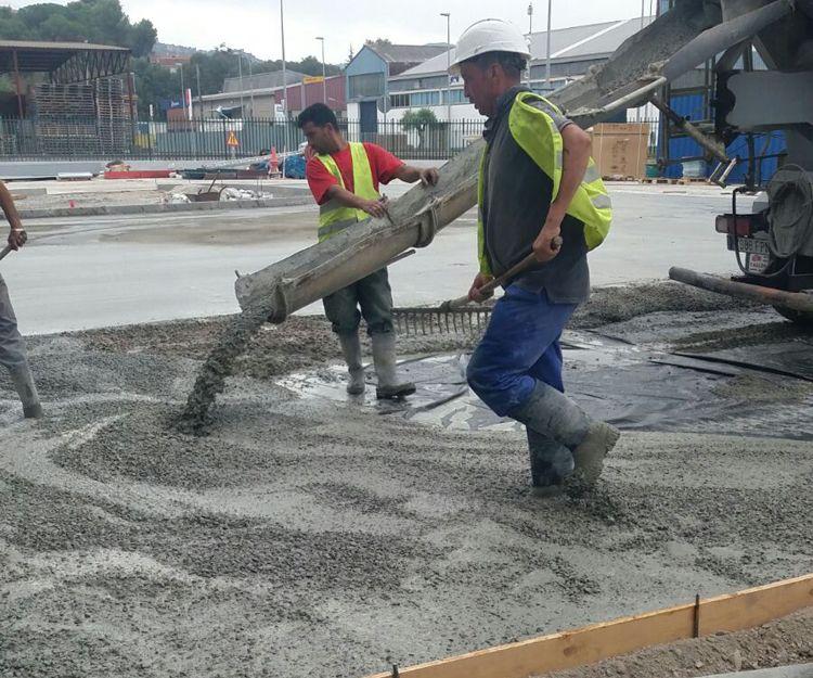 Trabajos de pavimento de hormigón en Barcelona