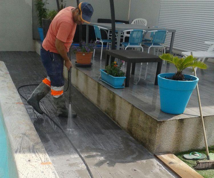 Trabajos de pavimentación de exterior en Barcelona